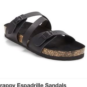 Shoes - Strappy Espadrille Sandals